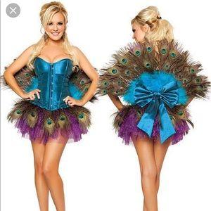RARE sexy peachick peacock costume